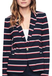 Juicy Couture Midnight Navy with Red and White Stripes Blazer