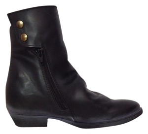 Bronx Leather Ankle Bootie Black Boots