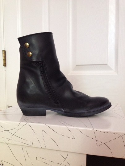 Bronx Leather Ankle Hidden Platform Black Boots