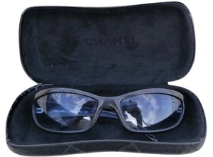 chanel CHANEL SUNGLASSES CASE BLACK FRAME BLUE LENS AUTHENTIC VINTAGE