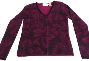 Dana Buchman Top MAGENTA & Black