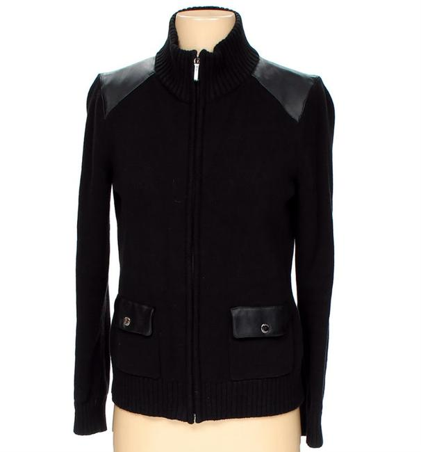 Preload https://img-static.tradesy.com/item/22424665/chaps-black-front-zipper-sweater-jacket-with-leather-details-nwot-cardigan-size-6-s-0-0-650-650.jpg