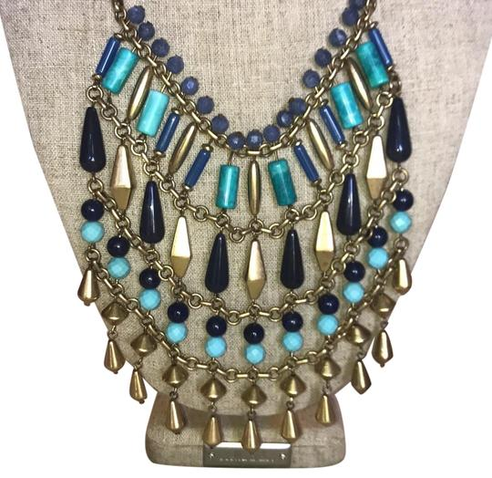 Preload https://img-static.tradesy.com/item/22424672/stella-and-dot-blue-and-topaz-and-green-beaded-stone-resort-casual-necklace-0-3-540-540.jpg
