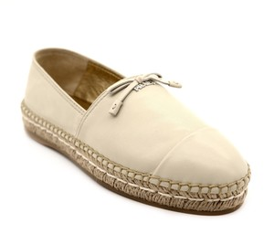 Prada Nappa Leather Beige Flats