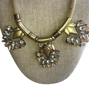 Stella & Dot Chic Gold chain with rose gold, cubic zirconia, and yellow gold stones