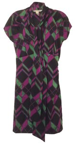 Diane von Furstenberg short dress Geometric Silk Shapes on Tradesy