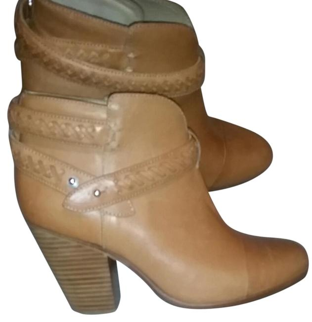 Item - Tan Ankle Strap Leather Boots/Booties Size EU 38.5 (Approx. US 8.5) Regular (M, B)