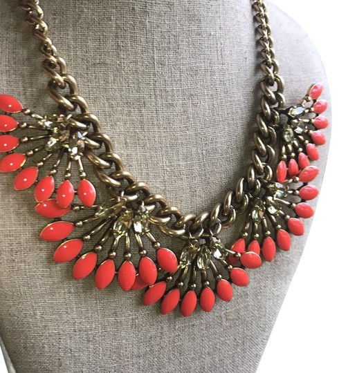 Preload https://img-static.tradesy.com/item/22424836/stella-and-dot-vibrant-orange-yellow-gold-stone-with-chunky-adjustable-chain-necklace-0-3-540-540.jpg
