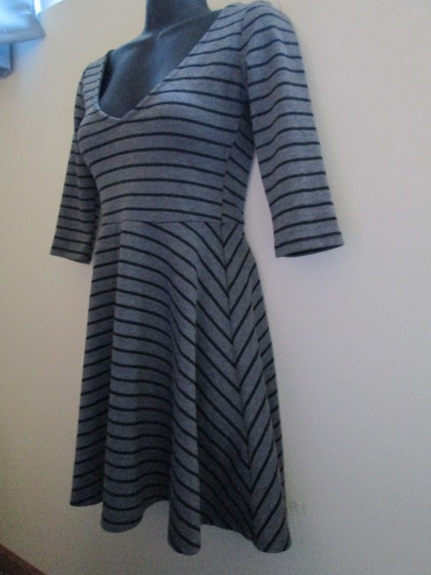 Urban Outfitters short dress Gray Skater Striped Stretch Fall Winter on Tradesy