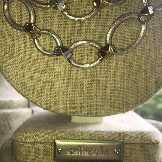 Stella & Dot silver and gold chain necklace Image 1
