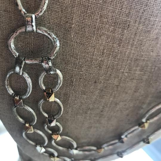 Stella & Dot silver and gold chain necklace Image 3