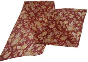 Unbranded Long, Narrow 'Stretchy' Scarf - Maroon and Tan