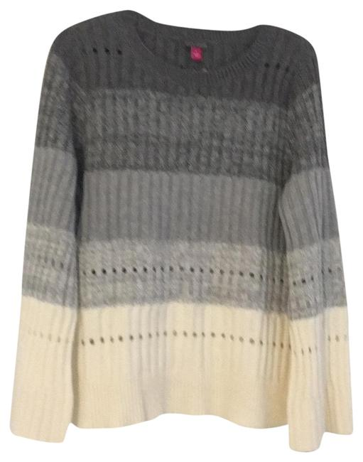 Preload https://img-static.tradesy.com/item/22424980/vince-camuto-ivory-and-grey-modern-mix-sweaterpullover-size-12-l-0-1-650-650.jpg