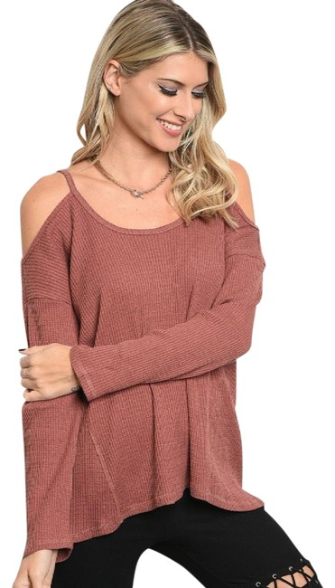 Preload https://img-static.tradesy.com/item/22424996/loveriche-brick-sexy-cold-shoulder-sweater-tunic-new-fall-winter-holiday-blouse-size-12-l-0-3-650-650.jpg