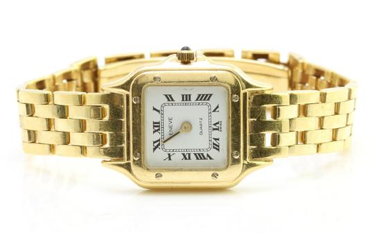 Geneve GENEVE Italy Ladies 14k Solid Yellow Gold Swiss Made Dress Watch