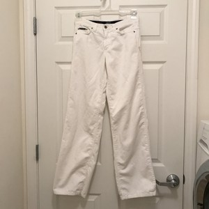 Dolce&Gabbana Corduroy Jeans Cotton Stretchy Winter Straight Pants White