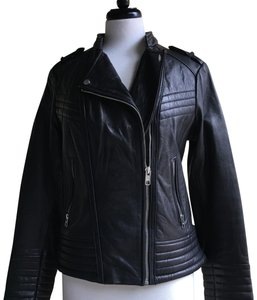 Michael Kors Real black Leather Jacket