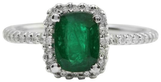 Preload https://img-static.tradesy.com/item/22425103/14k-white-gold-226ct-natural-zambian-emerald-and-diamonds-in-solid-ring-0-1-540-540.jpg
