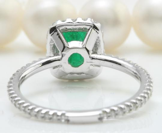 Other 2.26CT Natural Zambian Emerald & Diamonds in 14K Solid White Gold Ring
