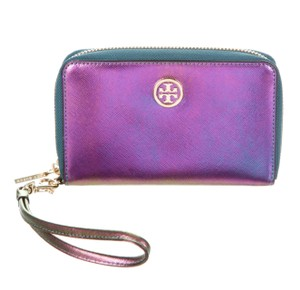 Tory Burch Purple iridescent leather Tory Burch wallet