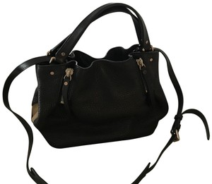 Burberry Satchel in black and Burberry plaid