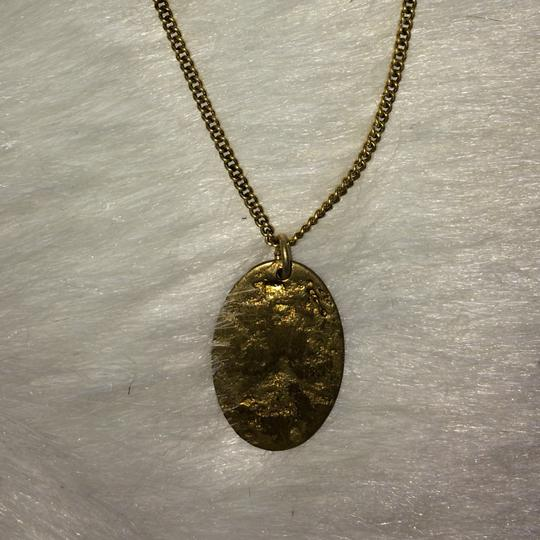 Free People Double gold medallion necklace