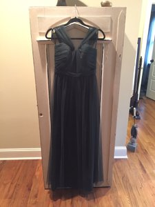 Amsale Hunter Green Tulle Aisha Gown / G979u Bridesmaid/Mob Dress Size 6 (S)