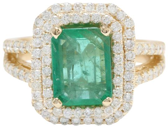 Preload https://img-static.tradesy.com/item/22425364/yellow-550ctw-natural-colombian-emerald-and-diamonds-in-14k-solid-gold-ring-0-1-540-540.jpg