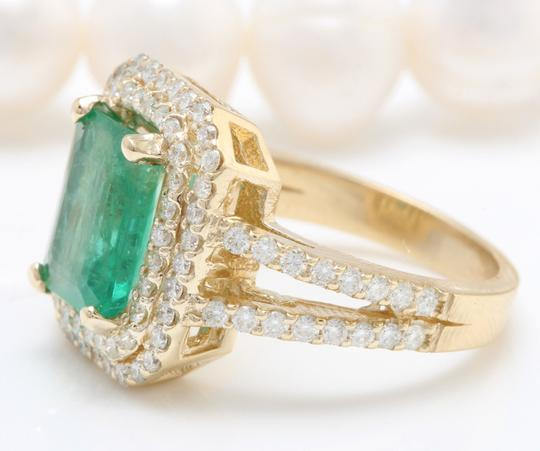 Other 5.50CTW Natural Colombian Emerald & Diamonds in 14K Solid Yellow Gold