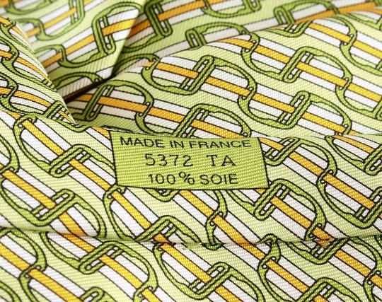 Hermès Green Wall Street 5372 Special Limited Edition 2007 Ultra-rare Tie/Bowtie