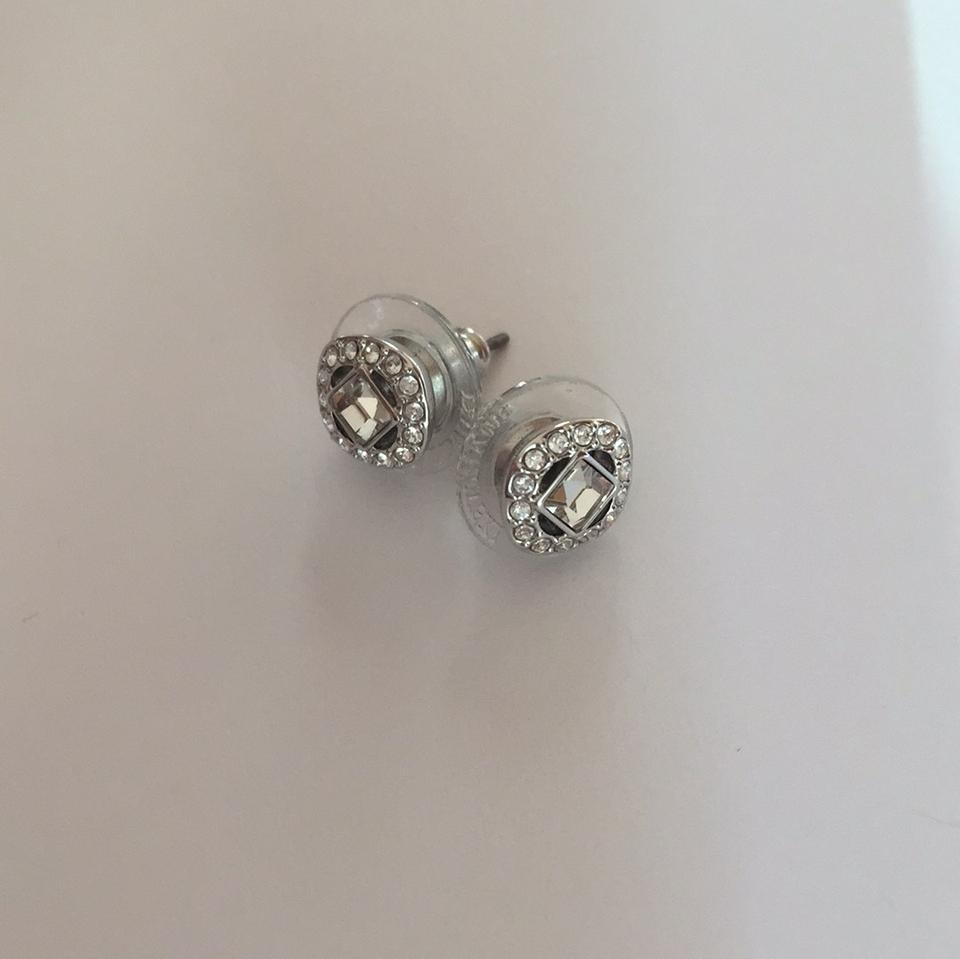 Swarovski 1081941 Angelic Pierced Earrings Gold Plated Clear