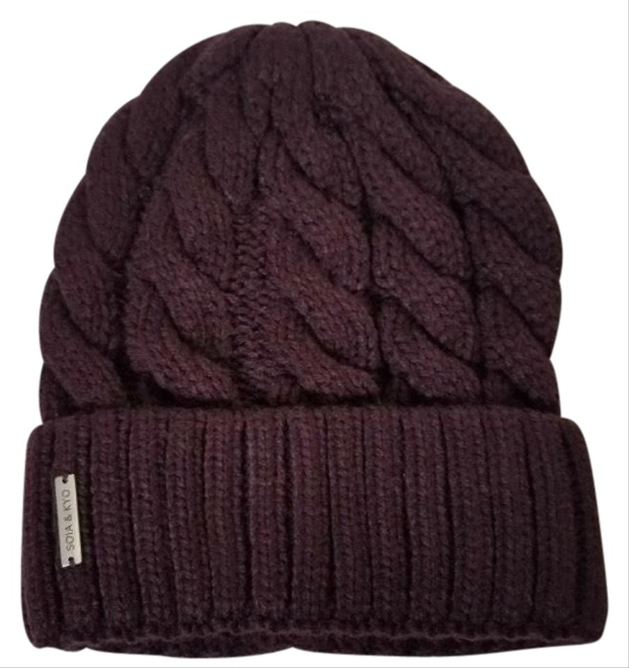 Soia Amp Kyo Red Cable Knit Beanie Hat Tradesy