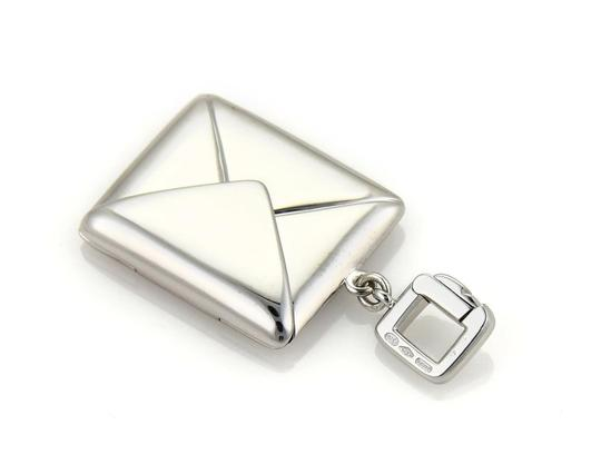 Louis Vuitton Envelope Charm that opens up in 18k White Gold