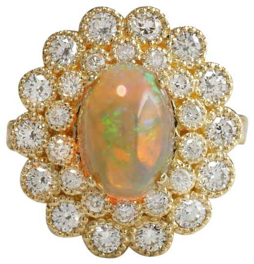 Preload https://img-static.tradesy.com/item/22425469/yellow-345-ctw-natural-ethiopian-opal-and-diamonds-in-14k-solid-gold-ring-0-1-540-540.jpg