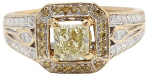 Other 1.58CTW Natural VS2-SI1 Fency DIAMOND in 18K Solid Yellow Gold Ring