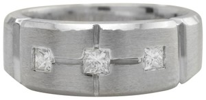 Other .19CTW Natural Princess Cut DIAMONDS in 14K Solid White Gold Ring