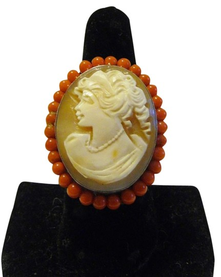 AMEDEO AMEDEO Oval Cameo Ring size 9