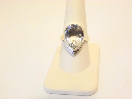 Nicky Butler Nicky Butler 7.15ctw Clear Quartz Sterling Silver Hammered Ring 9