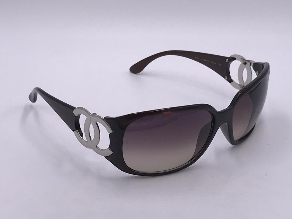 389bc53d241f1 Authentic Chanel Sunglasses 6014 Brown Silver Made in ITALY on Tradesy