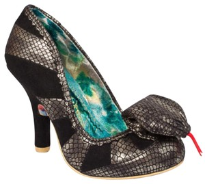 Irregular Choice Cobra Heels Unique Funky Black Pumps