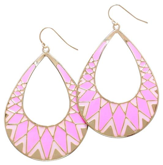 Other Pink and Gold Drop Dangle Fashion Earrings