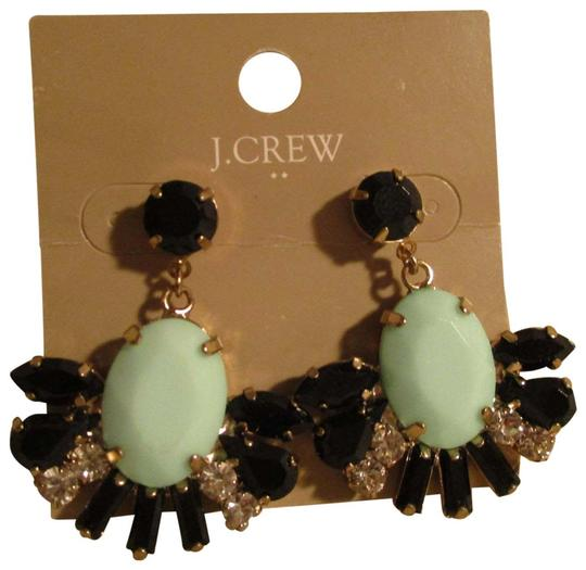 Preload https://img-static.tradesy.com/item/22425927/jcrew-black-and-green-faceted-stones-with-rhinestones-earrings-0-1-540-540.jpg