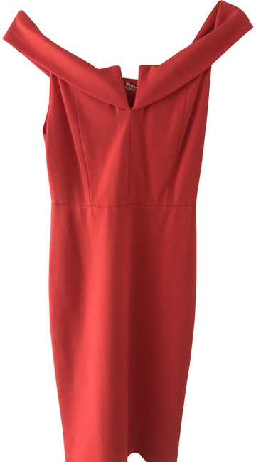 Item - Red Cocktail Mid-length Night Out Dress Size 4 (S)