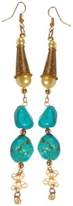 unknown Turquoise Shoulder Duster Earrings