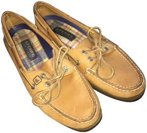 Sperry Boat Leather Like New Tan, Brown, Beige Flats