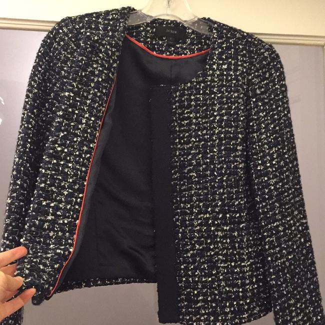 J.Crew Navy, Blue, White and Silver Tweed Blazer