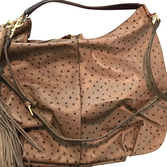 Preload https://item1.tradesy.com/images/gili-gili-grey-ostrich-taupe-leather-hobo-bag-22426165-0-2.jpg?width=440&height=440