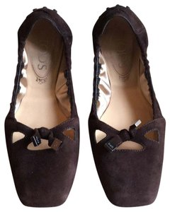 Tod's Tassel New Chocolate Brown Flats