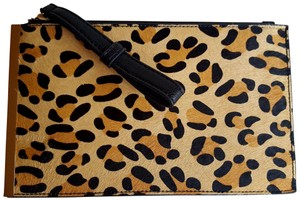 Street Level Wristlet in Black, tan, Brown, Ivory, Gold