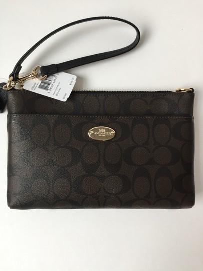 Coach Gift Wristlet in Brown / Black